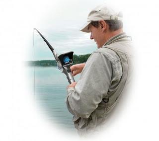 Caña de pescar con camara