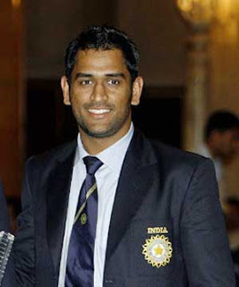 MS Dhoni in suite