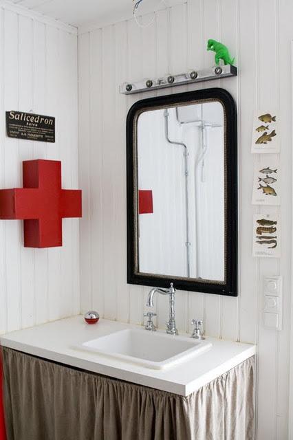 Concrete and honey salle de bain - Salle de bains vintage ...