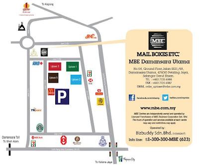 MBE Damansara Utama location map