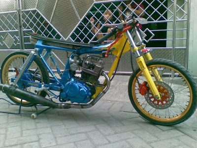 MOTOR DRAG vega jupiter z modifikasi