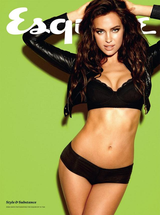Irina Shayk sizzles on the cover of Esquire UK, February 2012