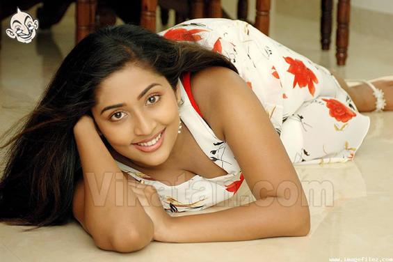Naya Nair In Hot Blue Dress Navya Legs Mallu Actress