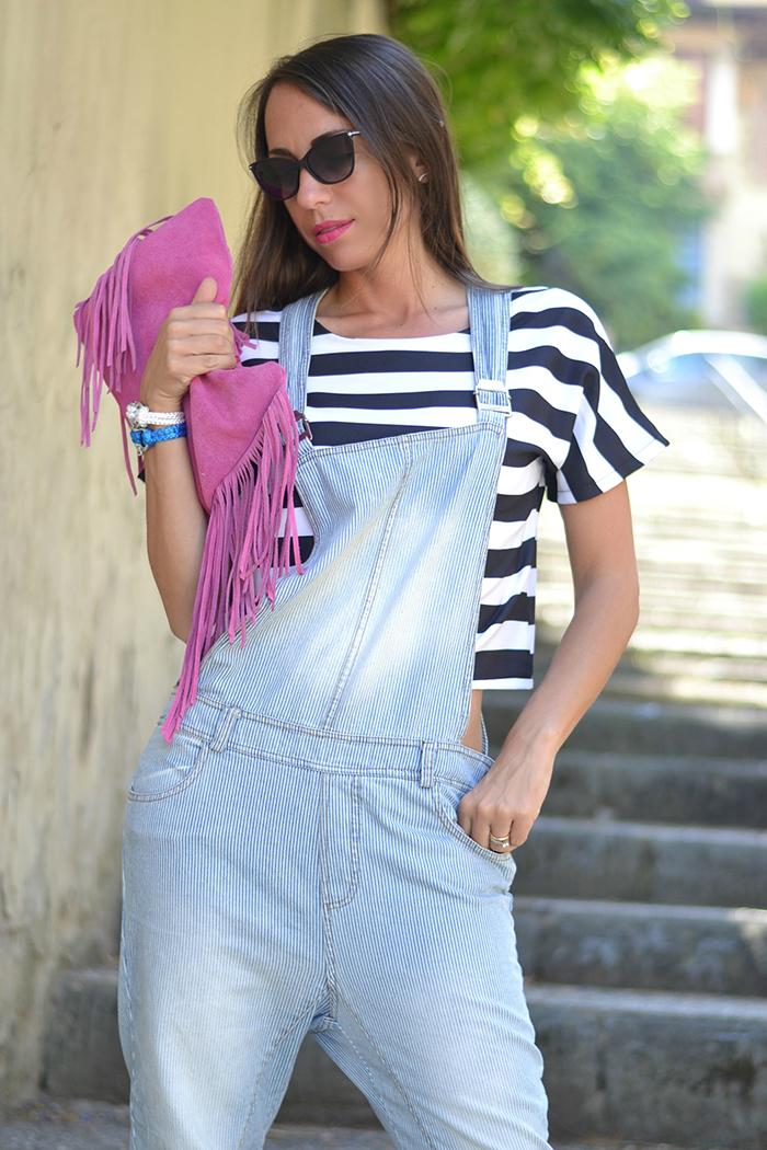 salopette jeans outfit