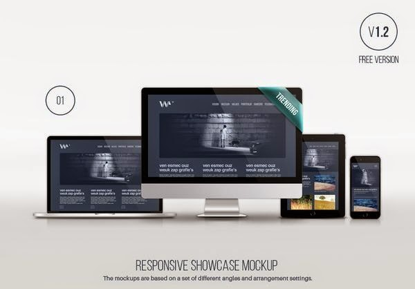 Responsive Showcase Device Mockup PSD