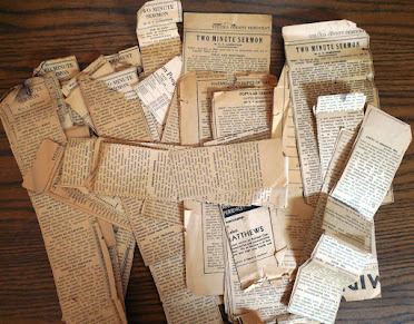 Clippings of Rev. Albertson's Sermons from a Florida Newspaper in 1939