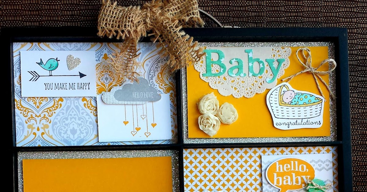 stampin 39 up independent demonstrator adorable baby shower gift
