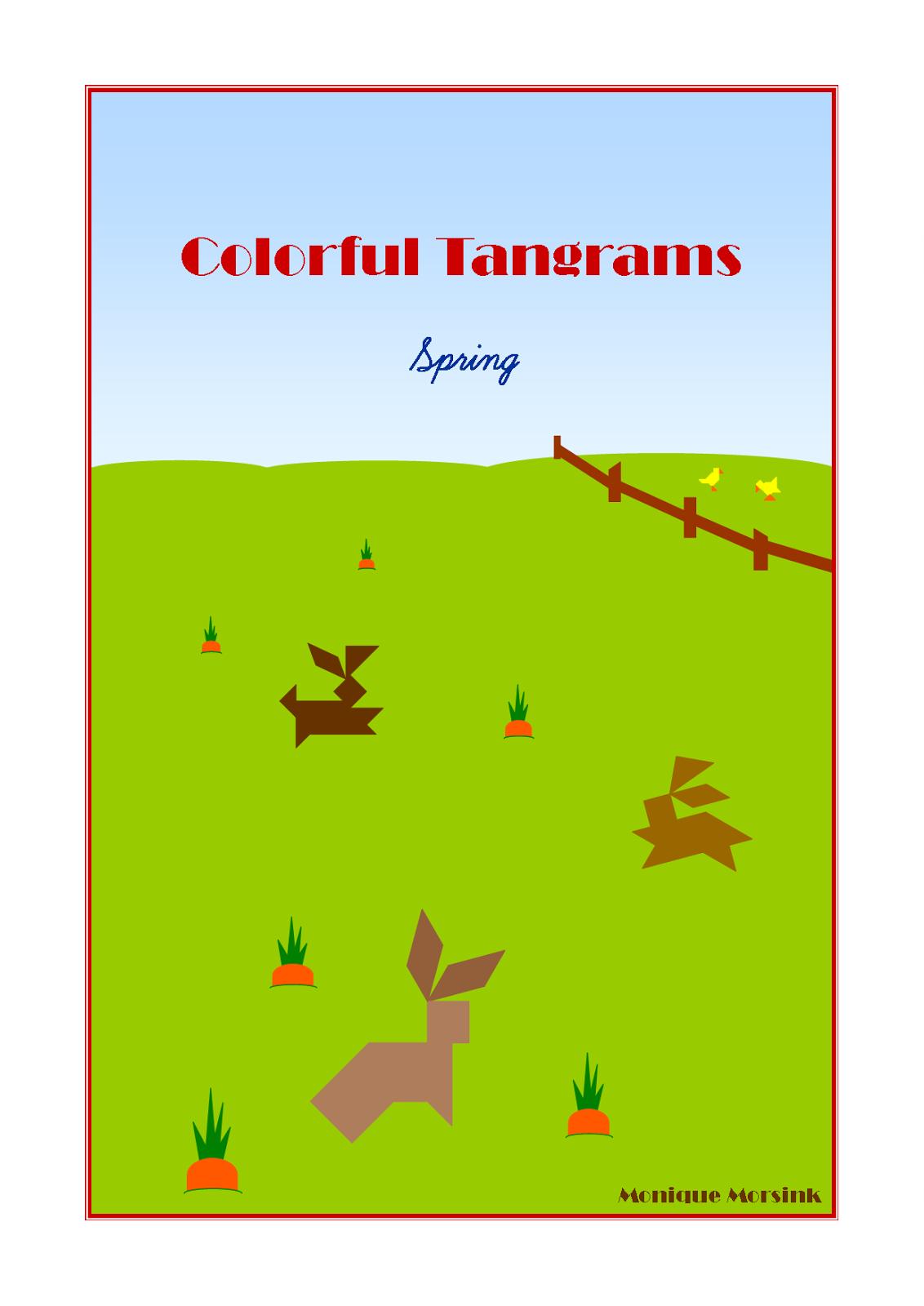 Tangram Spring Easter - Bunny / Rabbit & Cick