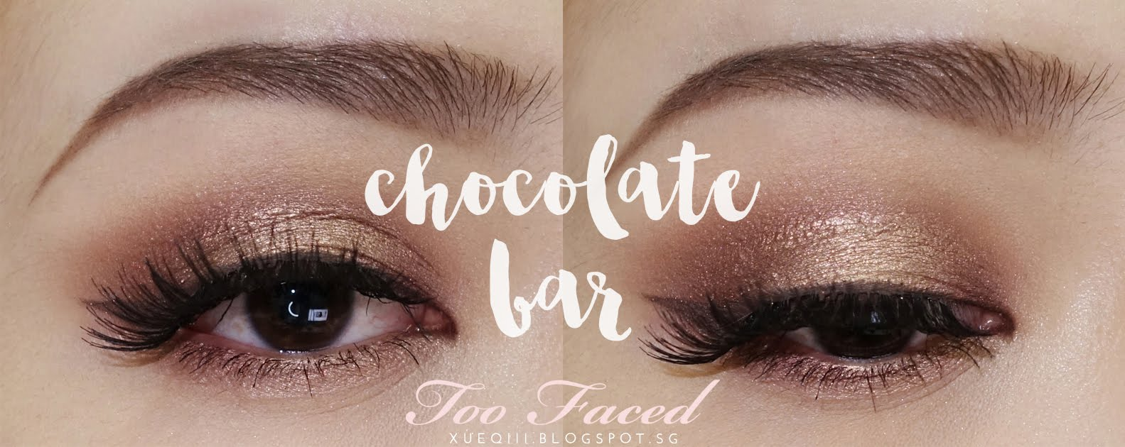Warm brown and golden makeup look ft too faced chocolate bar anastasia dipbrow pomade dark brown etude house color my brows baditri Image collections