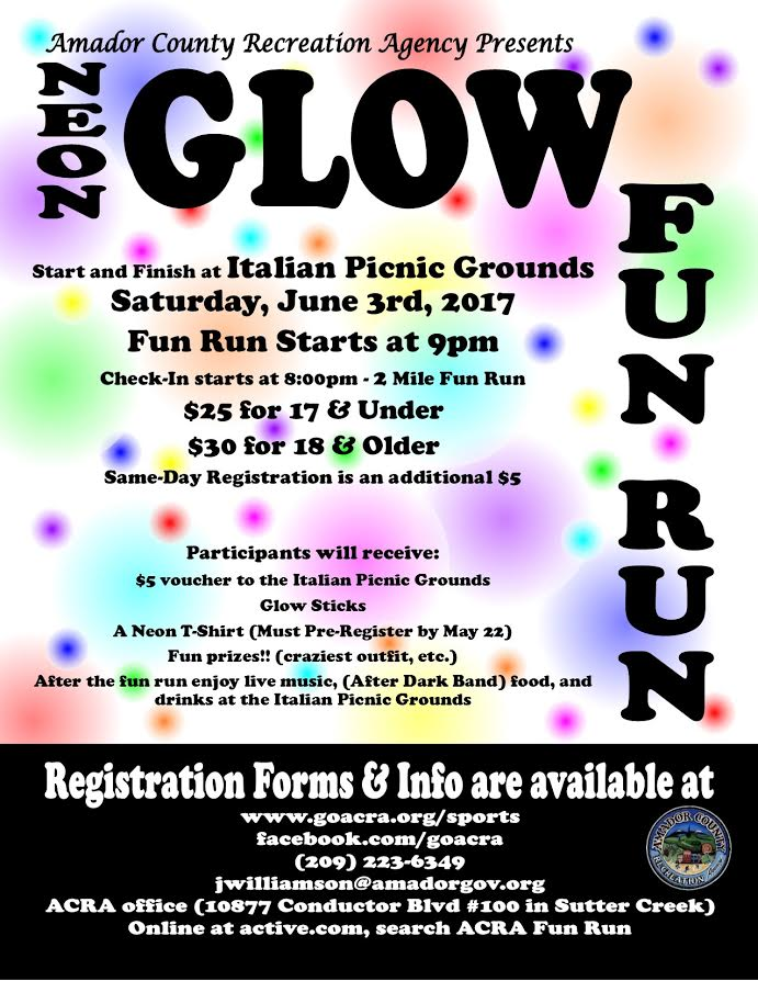 Neon Glow Fun Run - Sat June 3