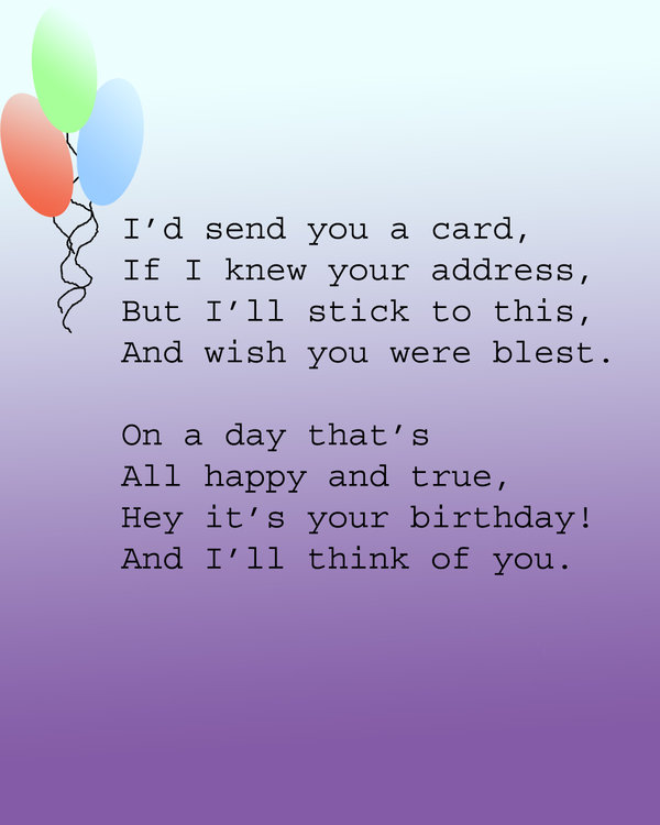 Funny Birthday Wishes Poems Write Birthday Card Funny: Nengaku: Funny Birthday Poems