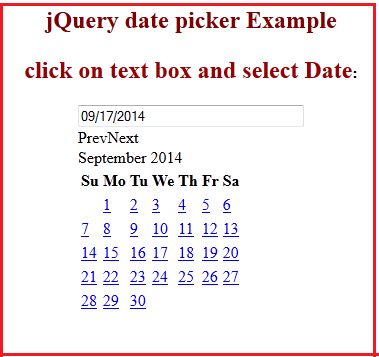 JQuery UI Datepicker (Calendar) with asp.net textbox