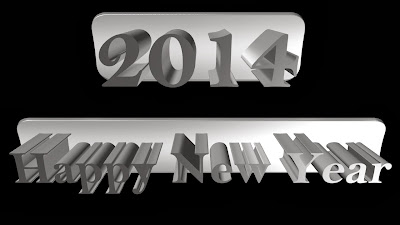 Beautiful 3D Text Style Cards Happy New Year Images 2014 Happy New Year 2014 Wallpapers