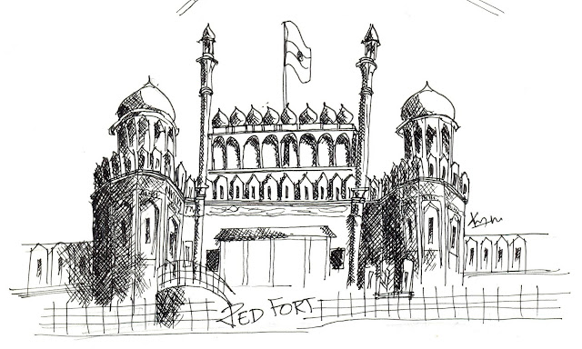 Red Fort Sketch