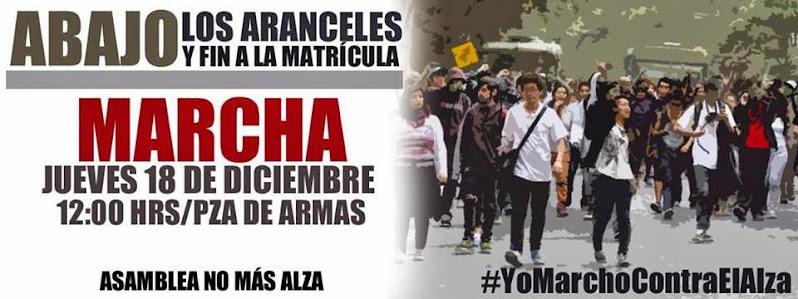 SANTIAGO CENTRO: MARCHA  ABAJO LOS ARANCELES Y FIN A LA MATRICULA