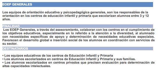 equipo de orientacion educativa y psicopedagogica: