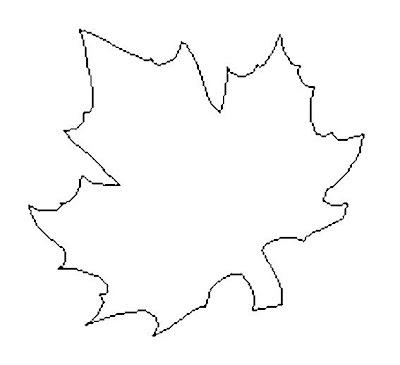 шаблон кленового листика