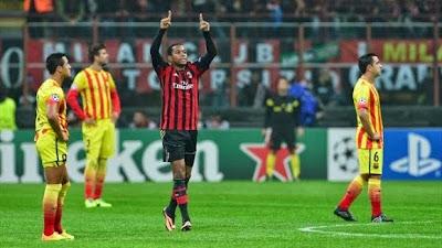 Robinho gol contra el Barcelona