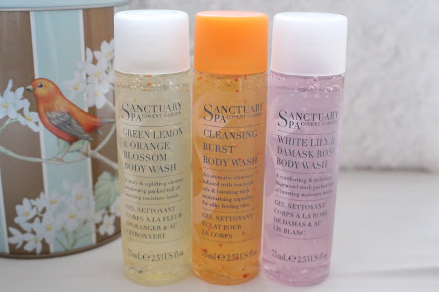 sanctuary spa shower gel set gift xmas