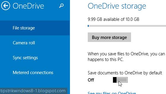 Cara Mengaktifkan dan Menonaktifkan: Menyimpan Berkas ke OneDrive Secara Default