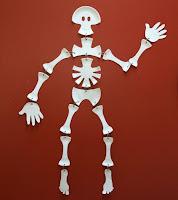 esqueleto humano casero para niños