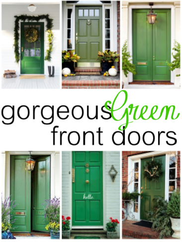 green front doorsThat Mommy Blog Gorgeous Green Front Doors