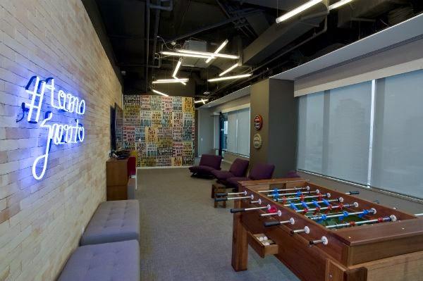 área de lazer do novo escritório do Twitter