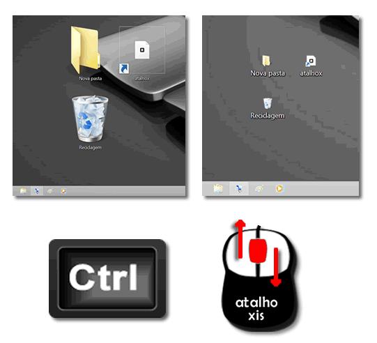 Como alterar o tamanho dos ícones no ambiente de trabalho para o Windows OS