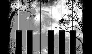 eno pesem se naučim zaigrati na klavir │ vendar mislim │ na drugega pianista
