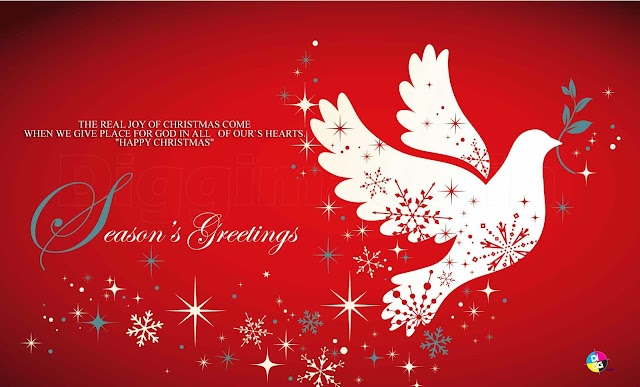 "THE REAL JOY OF CHRISTMAS COME  WHEN WE GIVE PLACE FOR GOD IN ALL   OF OUR`S HEARTS. ""HAPPY CHRISTMAS"""
