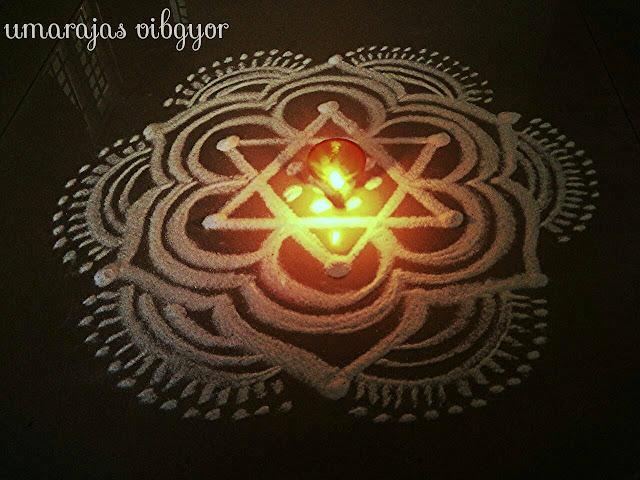 Simple Rangoli for Diwali 1