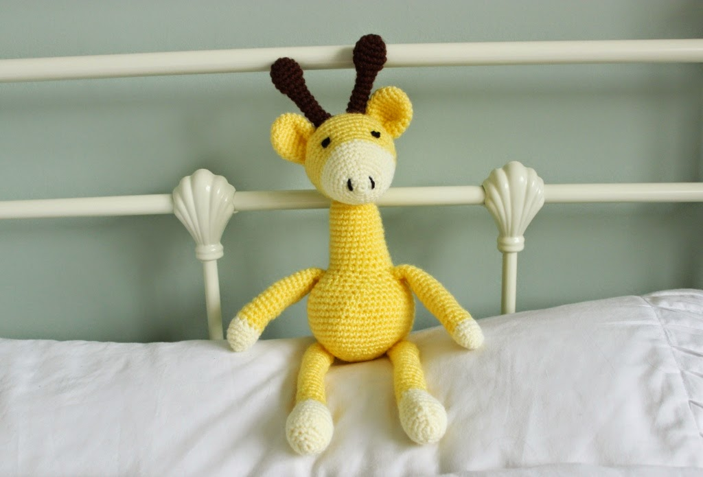 Floral And Feather Finished Project A Crochet Giraffe