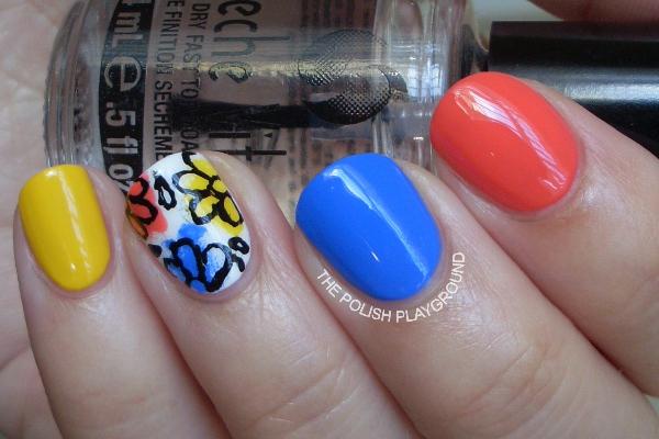 Floral Doodle Nails