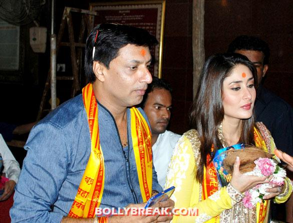 Madhur Bhandarkar, Kareena Kapoor at Siddhivinayak Temple - Kareena Kapoor at Audio release of 'Heroine' at Siddhivinayak Temple