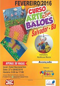 Curso Intermediário e Avançado de  Arte com Balões