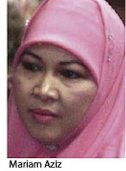 Bekas isteri Sultan Brunei, Hajjah Mariam Bt Haji Abdul Aziz
