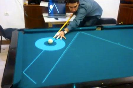 High-Tech Pool Table