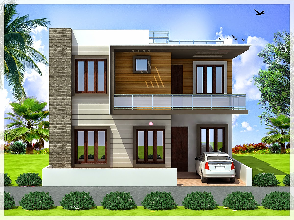 Ghar planner leading house plan and house design for Contemporary duplex plans