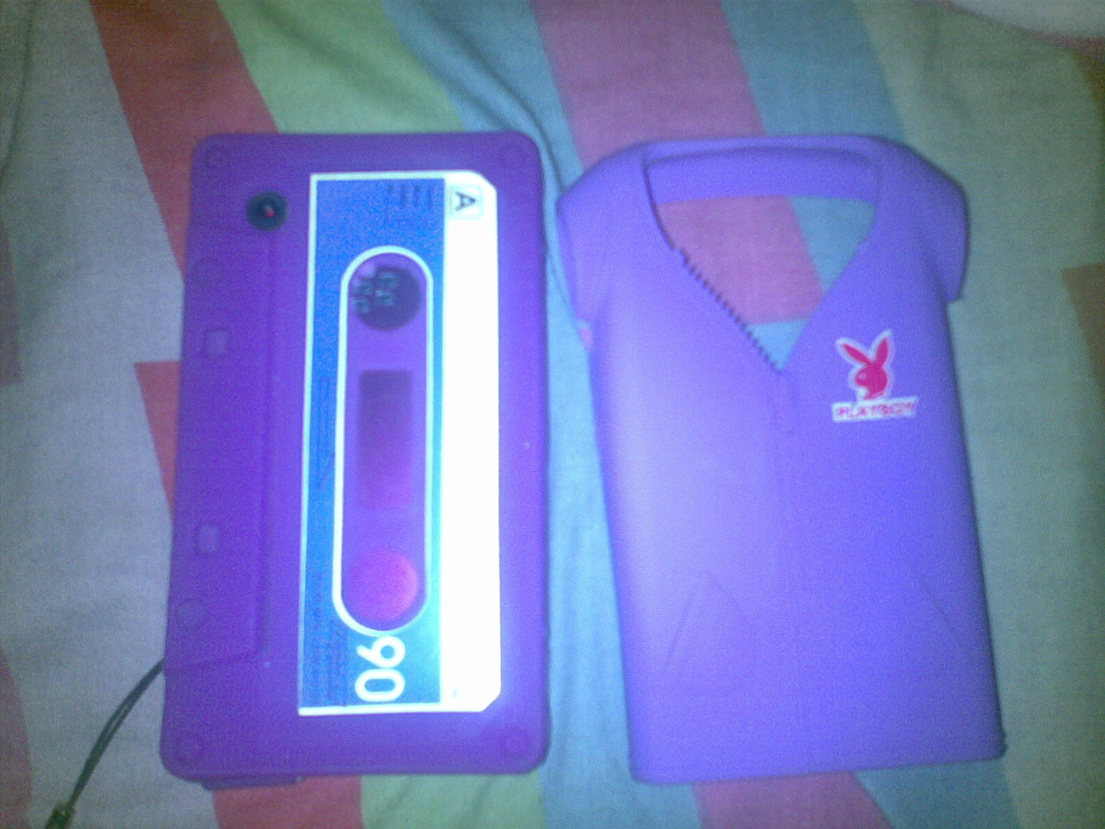 Purple Cassette Case for Blackberry 8520