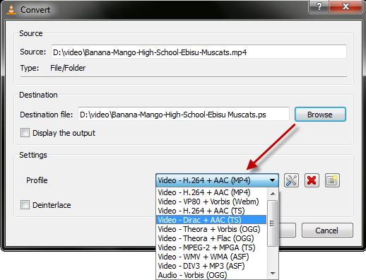 Profile Convert Type Convert Video Ke Berbagai Format Menggunakan VLC Player