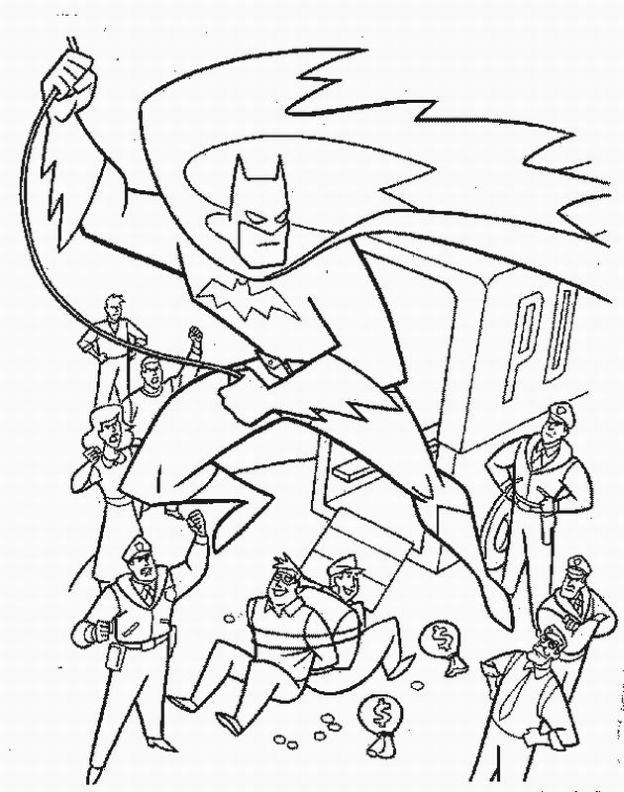 dc comics batman coloring pages - photo#36