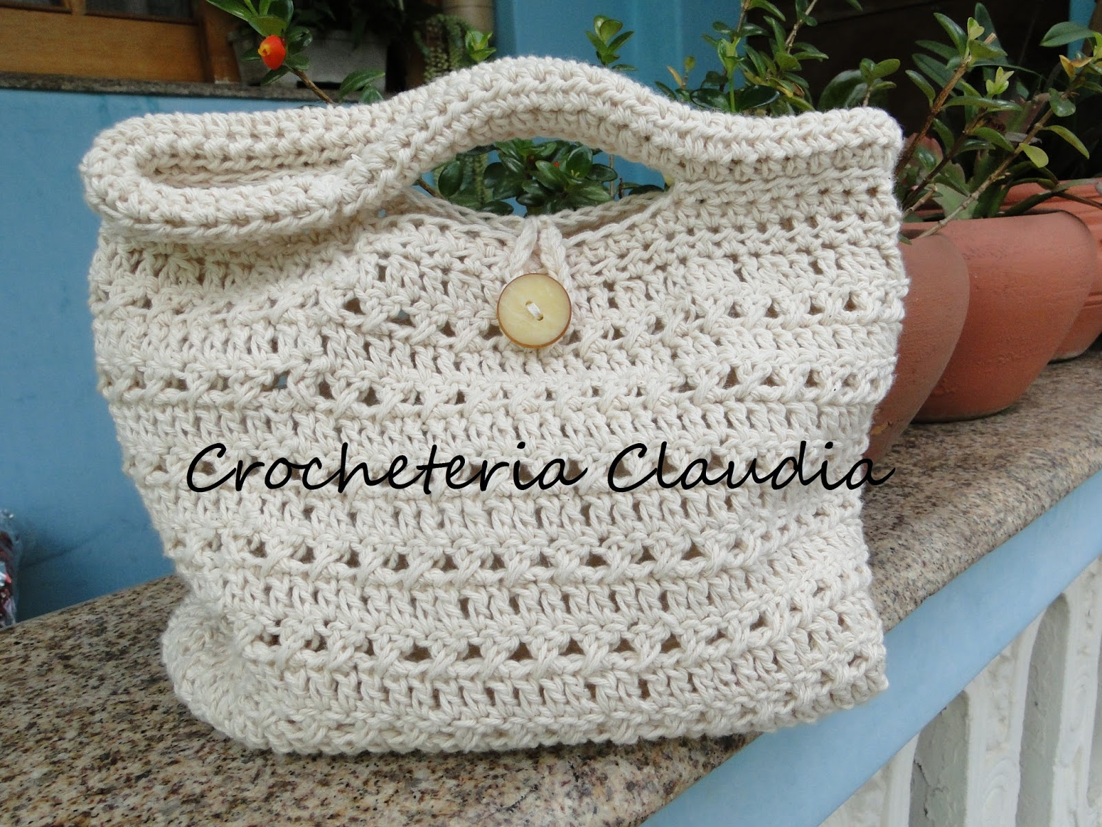 Bolsa Para Carregar Cachorro Em Croche : Crocheteria claudia bolsa em barbante