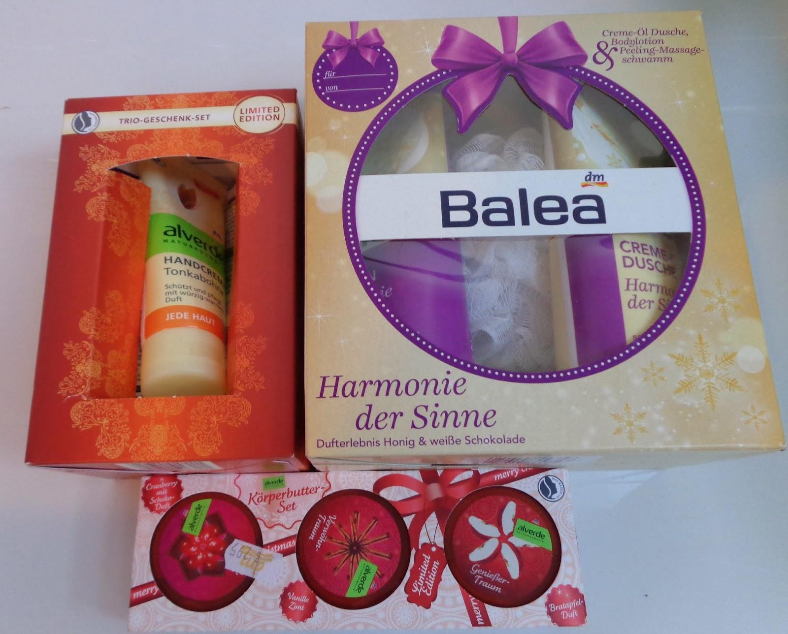 Balea Harmonie der Sinne; alverde Trio-Geschenk-Set; alverde Körperbutter-Set