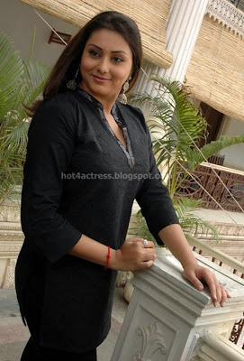 Namitha latest stills in black dress