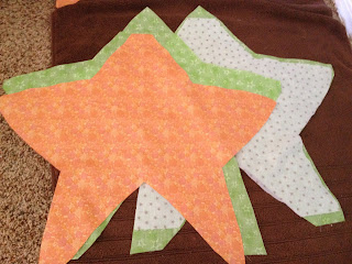 DIY Starfish Costume star cut-out