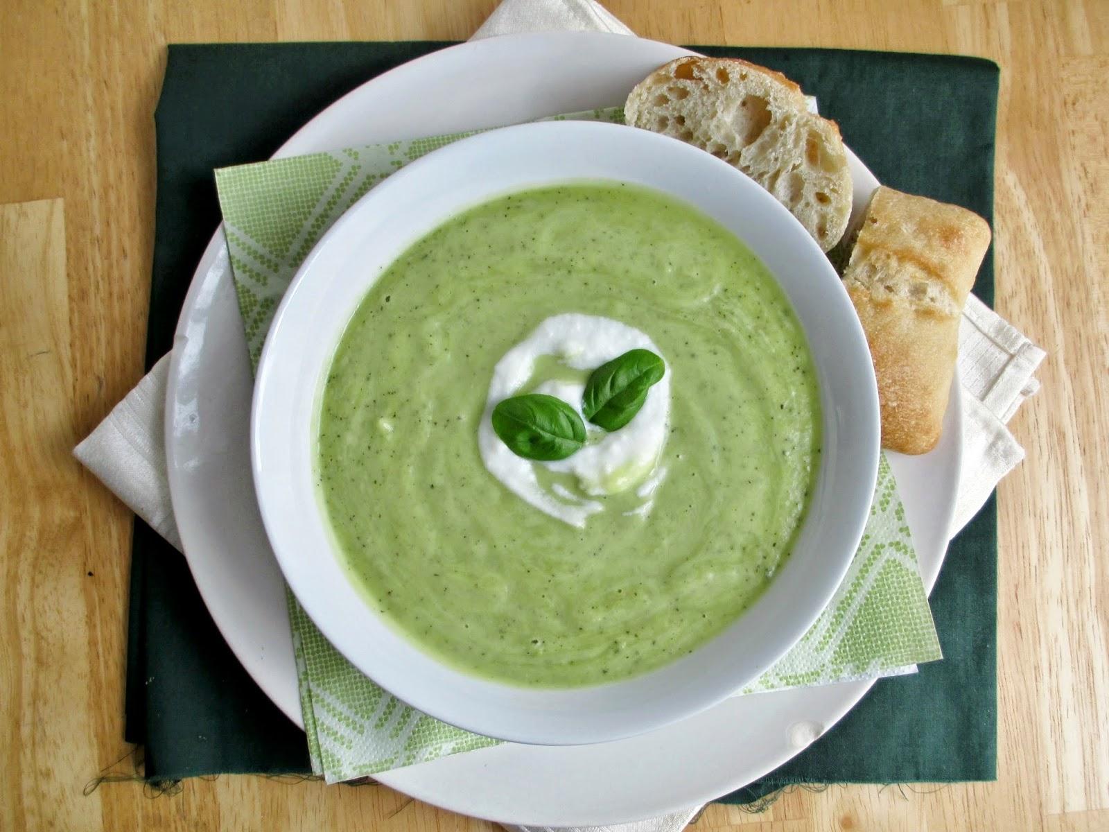 Vanilla & Spice: Chilled Zucchini Avocado Soup