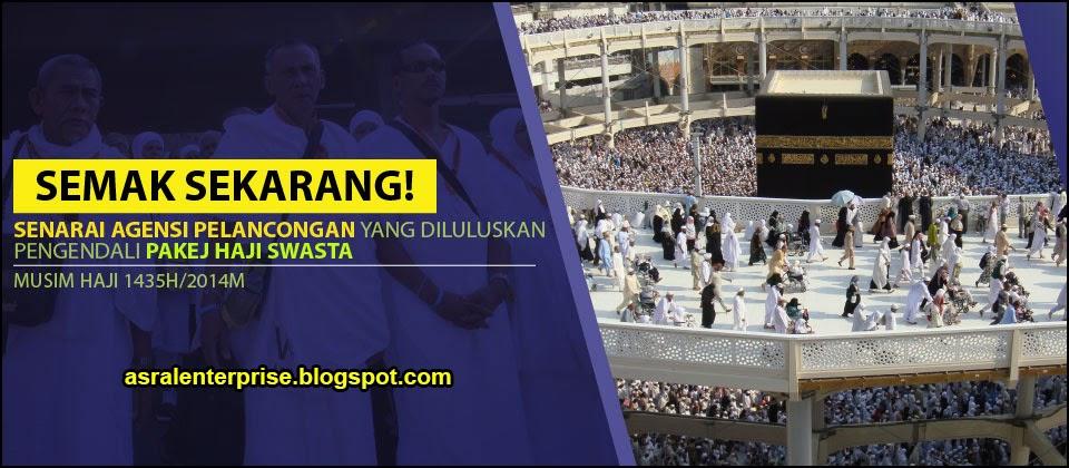 foto Senarai Agensi Pelancongan Yang Diluluskan Pengendali Pakej Haji Swasta 2014 1435H