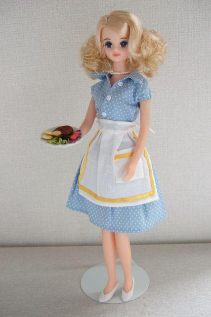 1950s style Polka Dot Shirts Waist Dress_Apron