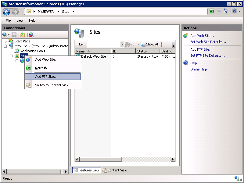 Configuring Ftp User Isolation In Iis 7 Knowledge Collect