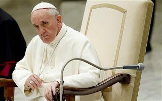 Pope Francis sad